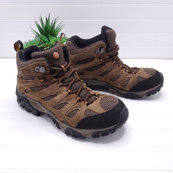 a093d76a Merrell Men Moab 2 Mid Hike Boot, Earth Size 9.5
